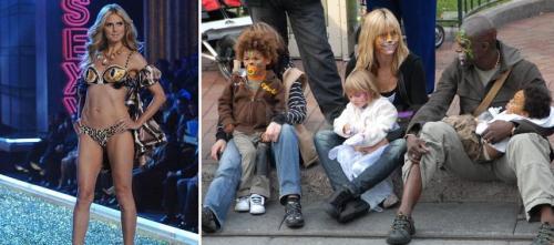 Heidi Klum Saradíssima e com a Família